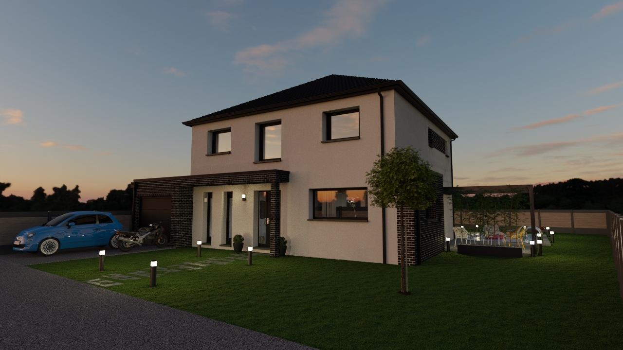 Maisons + Terrains du constructeur Maison Familiale Mazingarbe • 140 m² • HINGES
