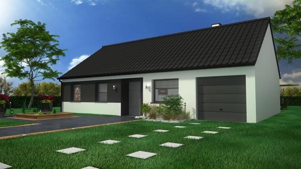 Maisons + Terrains du constructeur MAISON CASTOR LENS • 85 m² • LAPUGNOY