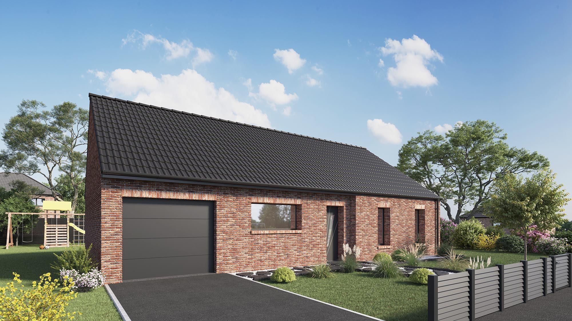 Maisons + Terrains du constructeur Maison Castor Valenciennes • 96 m² • VILLEREAU