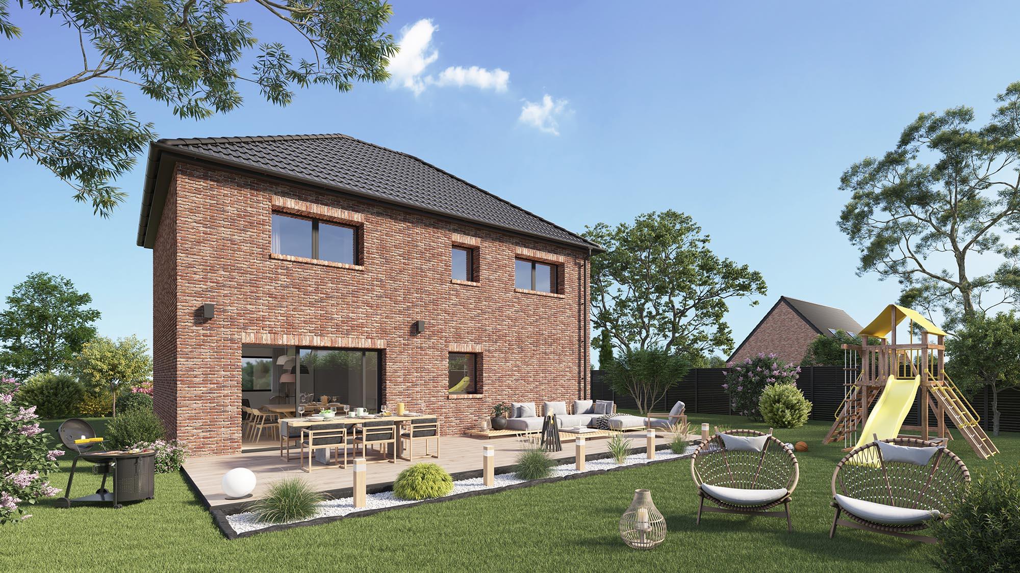Maisons + Terrains du constructeur Maison Castor Valenciennes • 116 m² • BEUVRAGES
