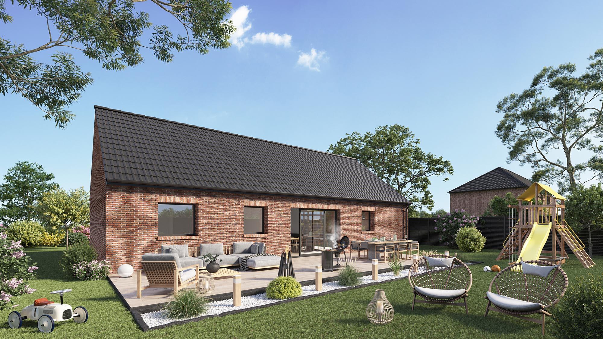 Maisons + Terrains du constructeur Maison Castor Valenciennes • 98 m² • BEUVRAGES