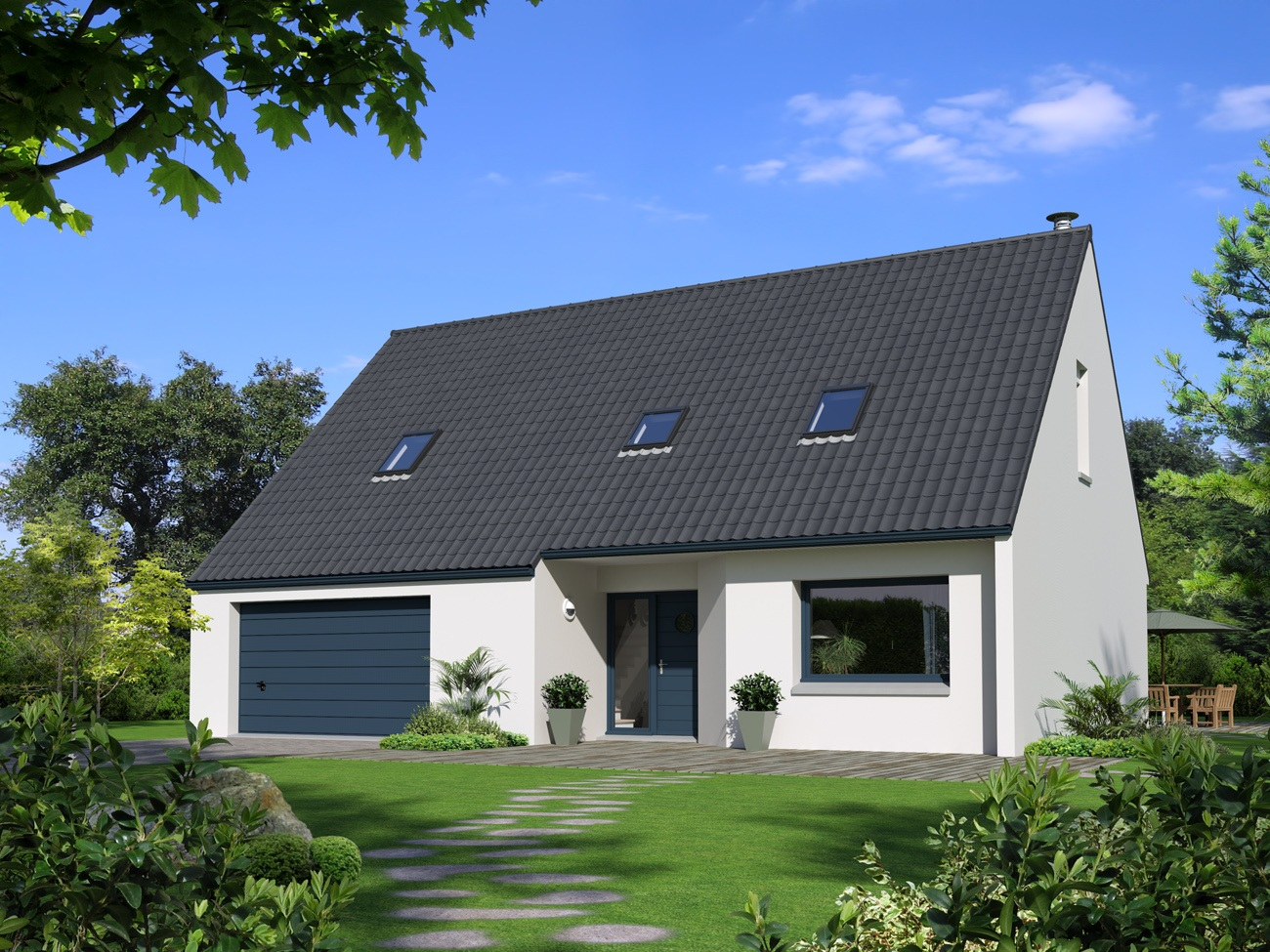 Maisons + Terrains du constructeur Maison Familiale Amiens • 107 m² • FLERS SUR NOYE