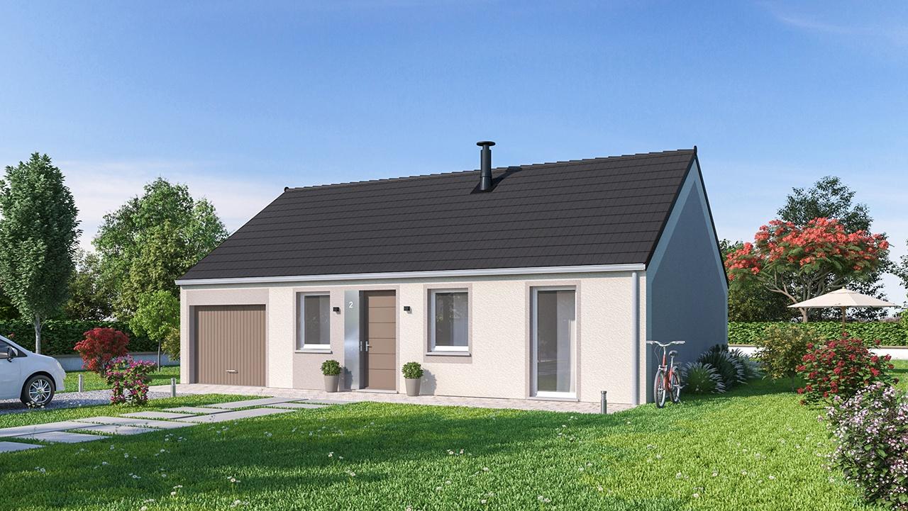 Maisons + Terrains du constructeur MAISON FAMILIALE CAEN • 78 m² • FONTAINE AU PIRE