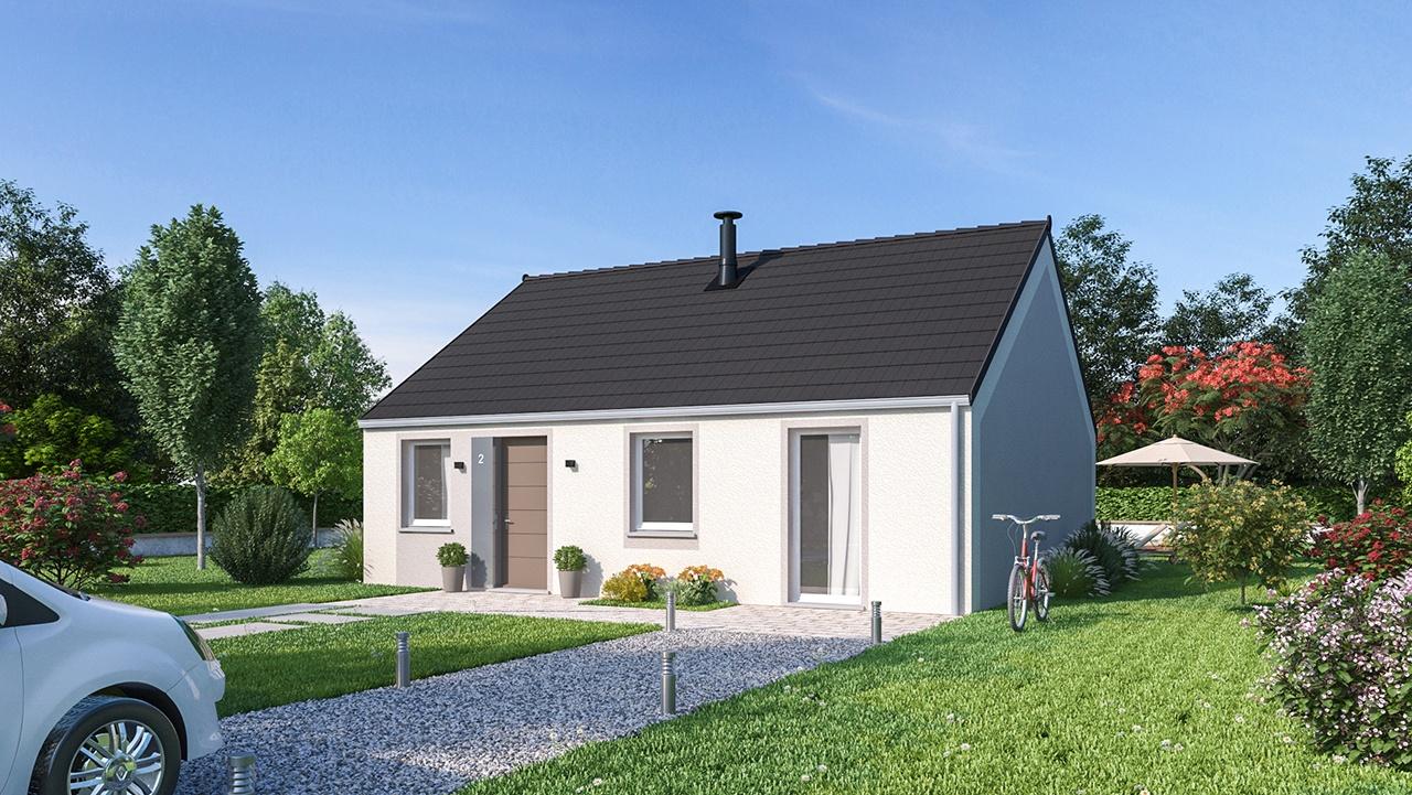 Maisons + Terrains du constructeur MAISON FAMILIALE CAEN • 75 m² • AUBIGNY AU BAC