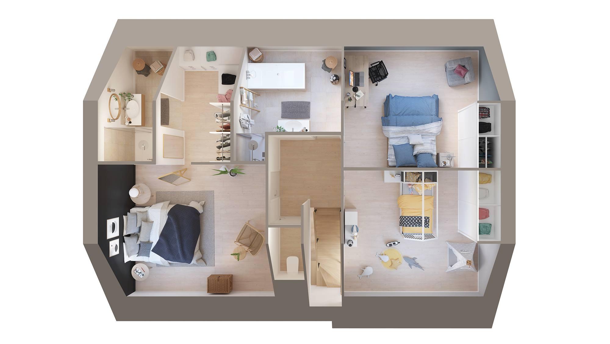 Maisons + Terrains du constructeur MAISON CASTOR REIMS • 114 m² • REIMS