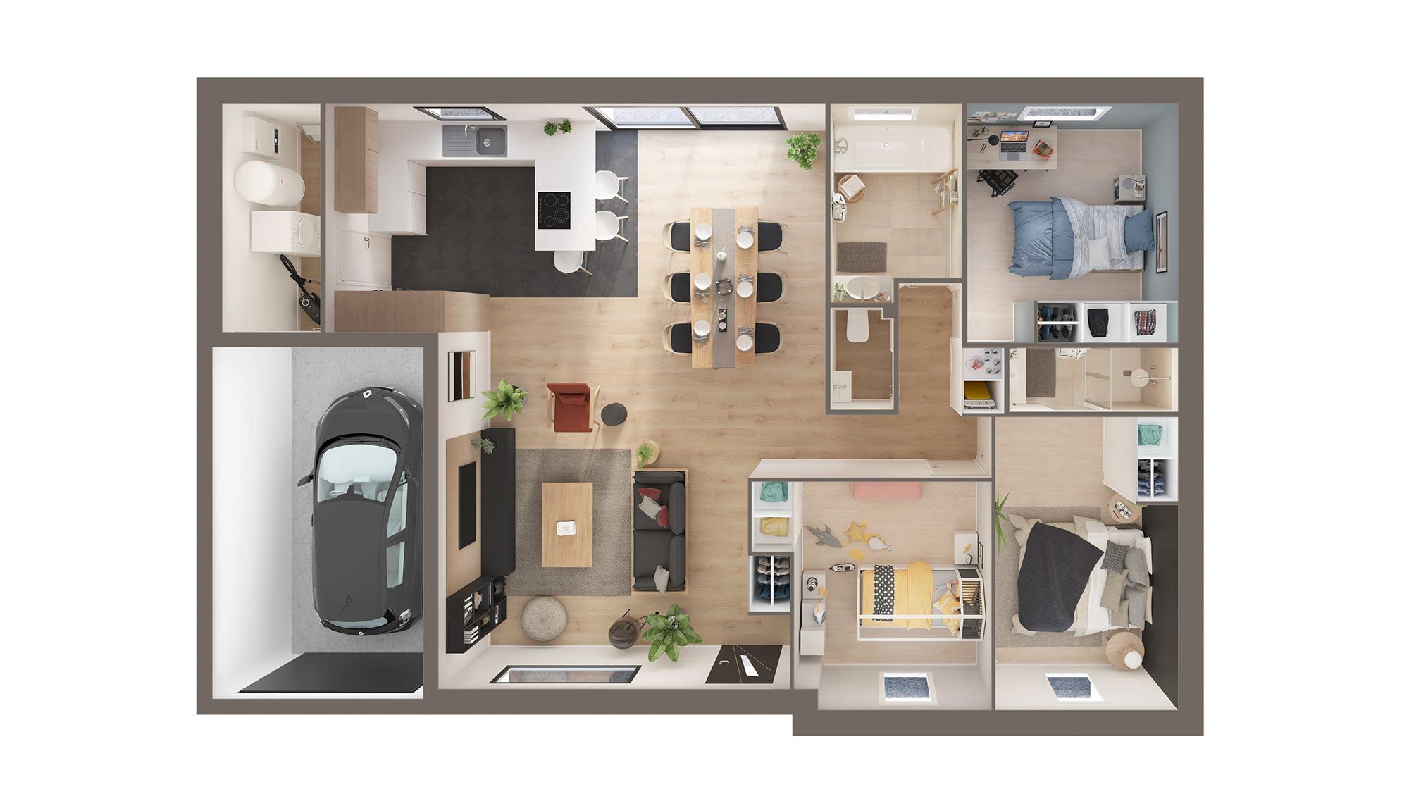 Maisons + Terrains du constructeur Maison Castor Reims • 96 m² • WARMERIVILLE
