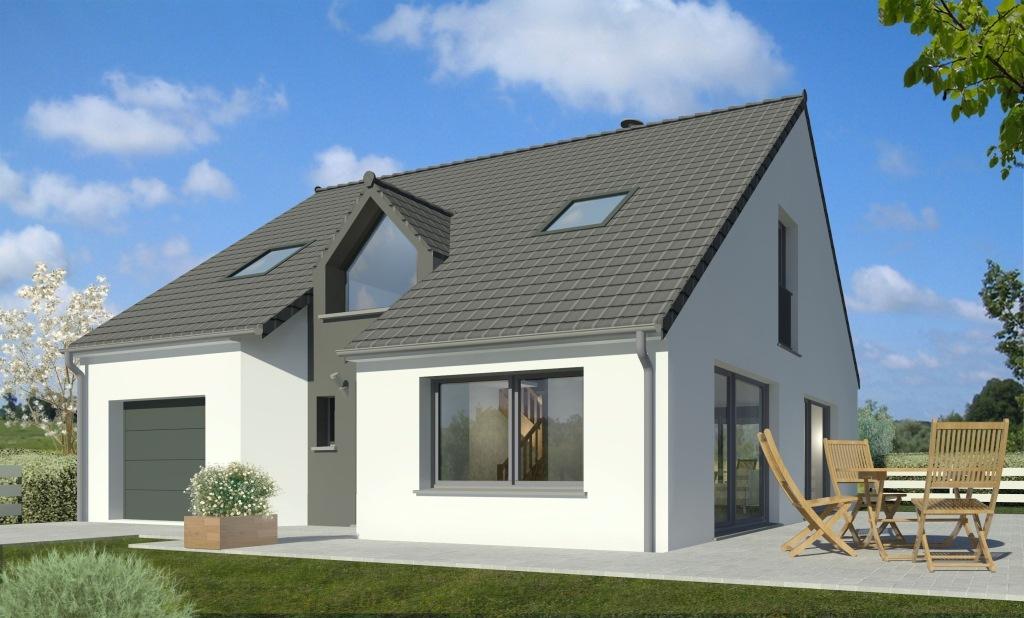 Maisons + Terrains du constructeur MAISON FAMILIALE SAINT QUENTIN • 109 m² • BRUYERES ET MONTBERAULT