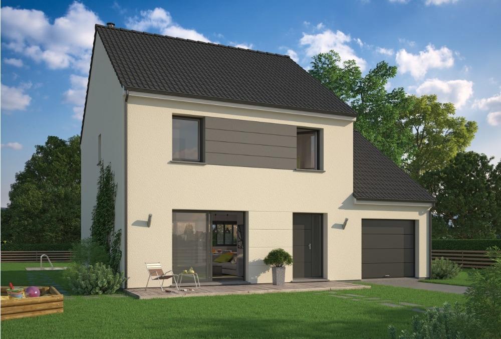 Maisons + Terrains du constructeur MAISON FAMILIALE SAINT QUENTIN • 104 m² • MARCHAIS