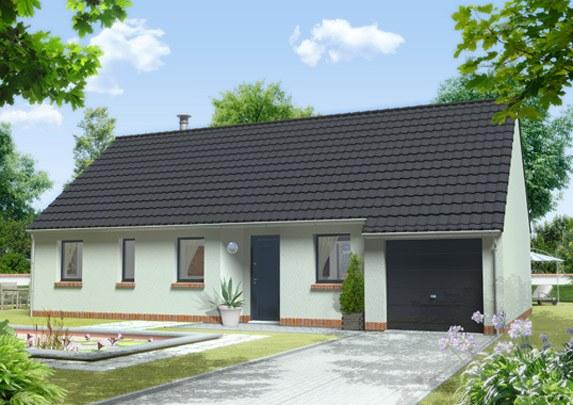 Maisons + Terrains du constructeur MAISON FAMILIALE SAINT QUENTIN • 80 m² • SAINT GOBAIN