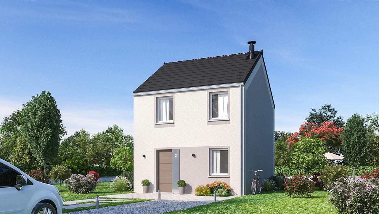 Maisons + Terrains du constructeur MAISONS PHENIX LEZENNES • 74 m² • OSTRICOURT