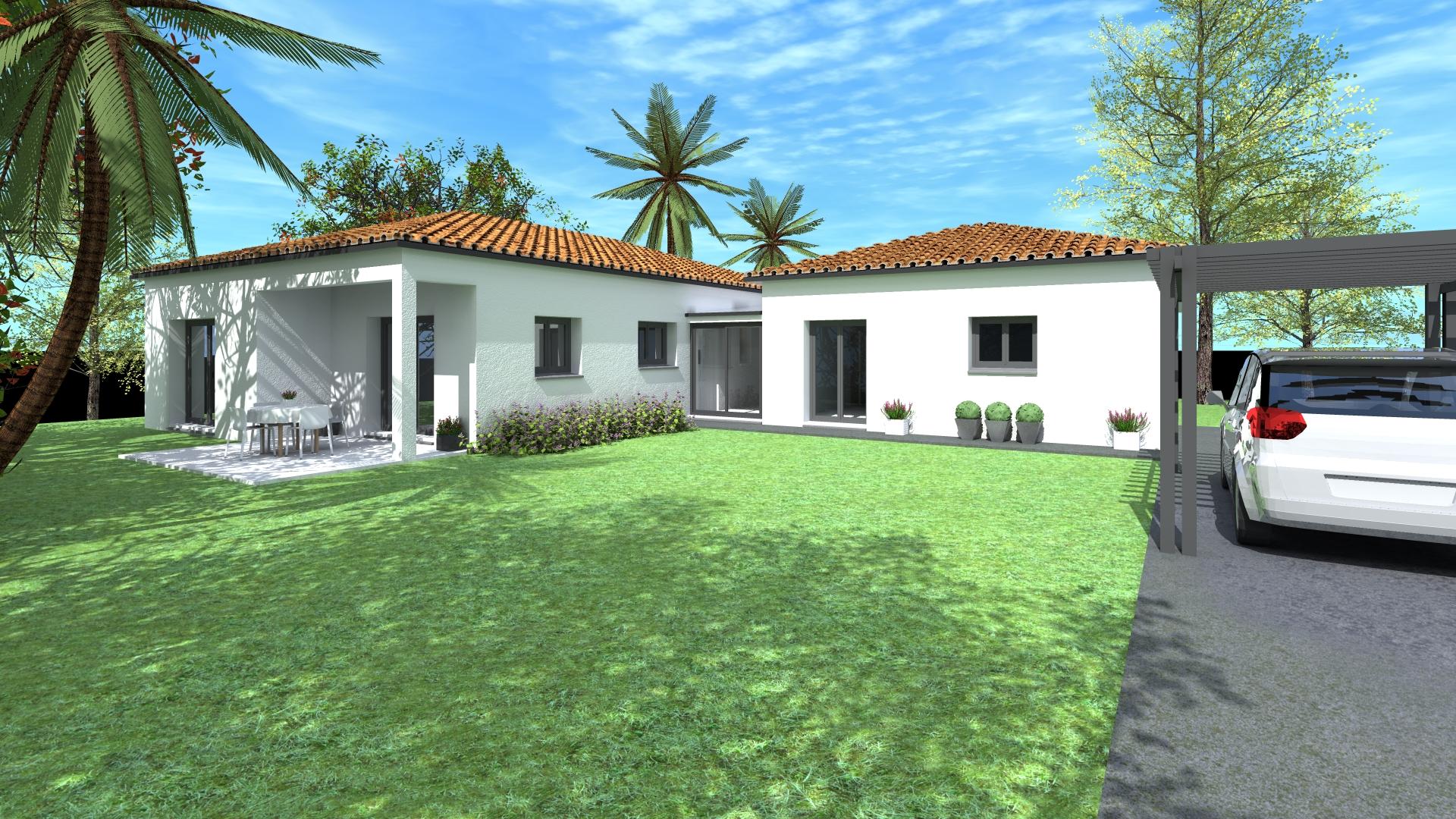 Maisons + Terrains du constructeur VILLAS SUD CREATION • 120 m² • FRONTON