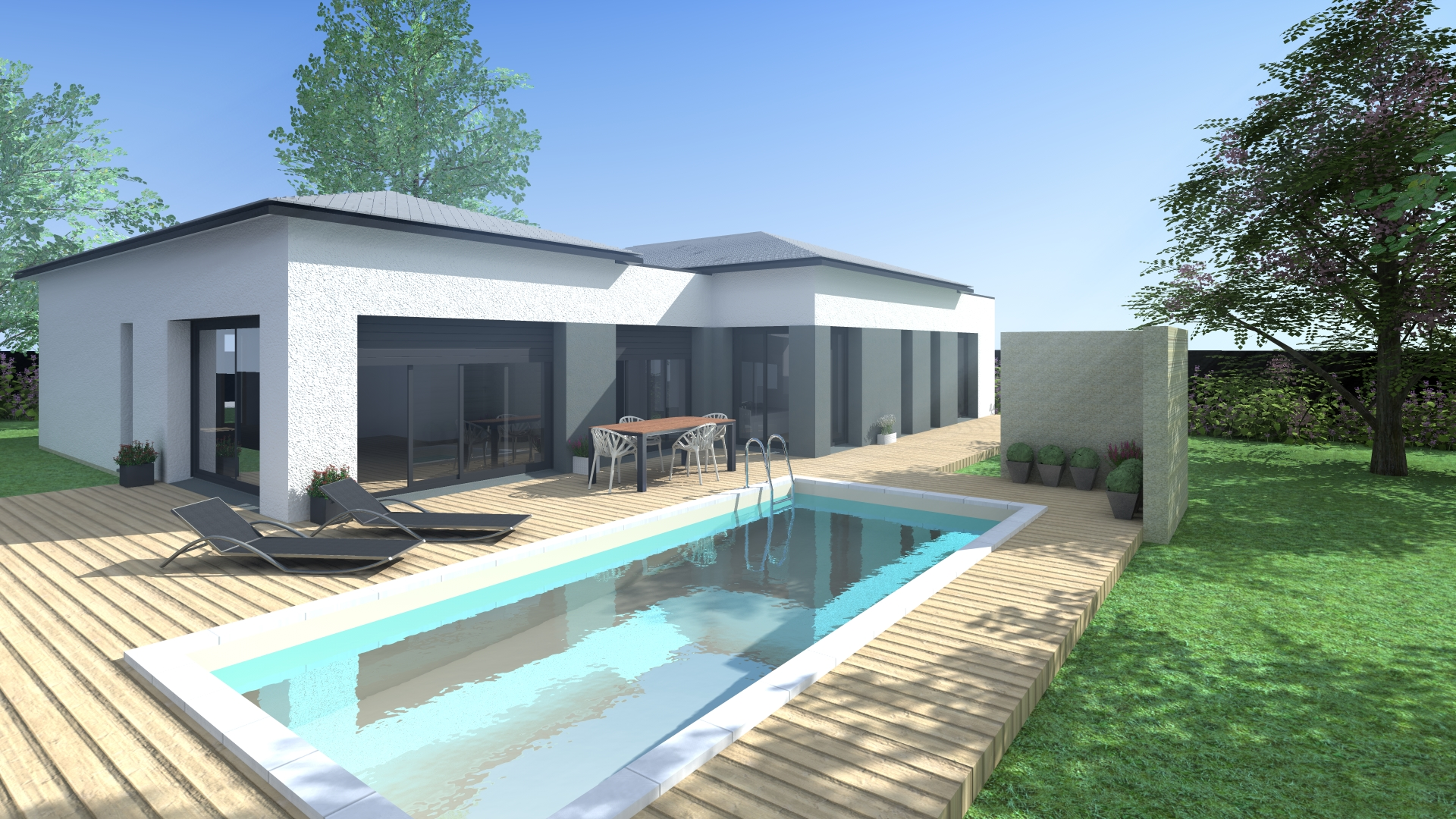 Maisons + Terrains du constructeur VILLAS SUD CREATION • 140 m² • QUINT FONSEGRIVES