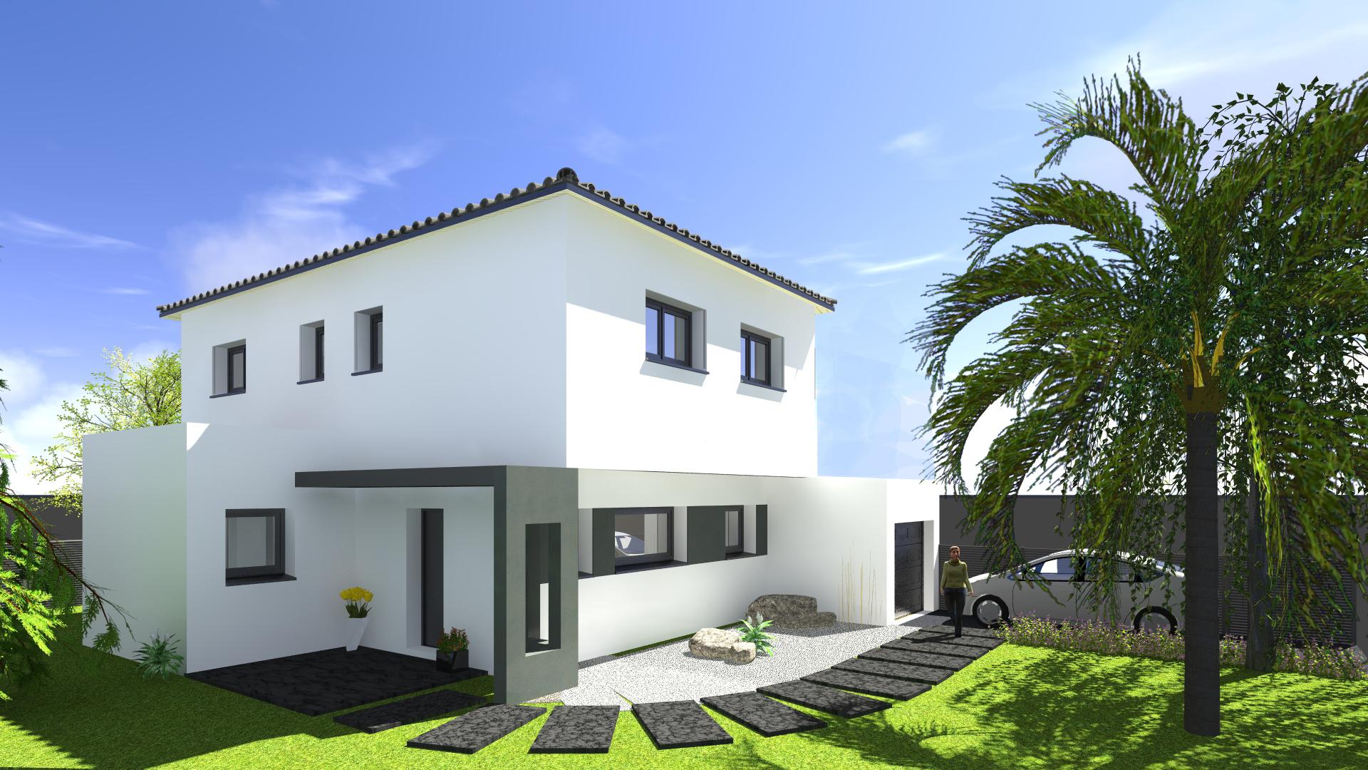 Maisons + Terrains du constructeur VILLAS SUD CREATION • 130 m² • PECHBUSQUE