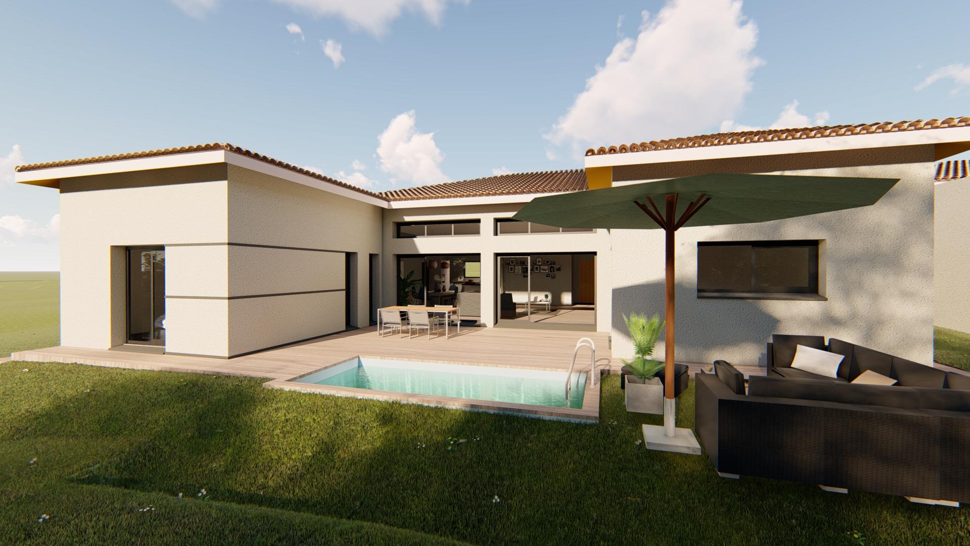 Maisons + Terrains du constructeur VILLAS SUD CREATION • 172 m² • LACROIX FALGARDE