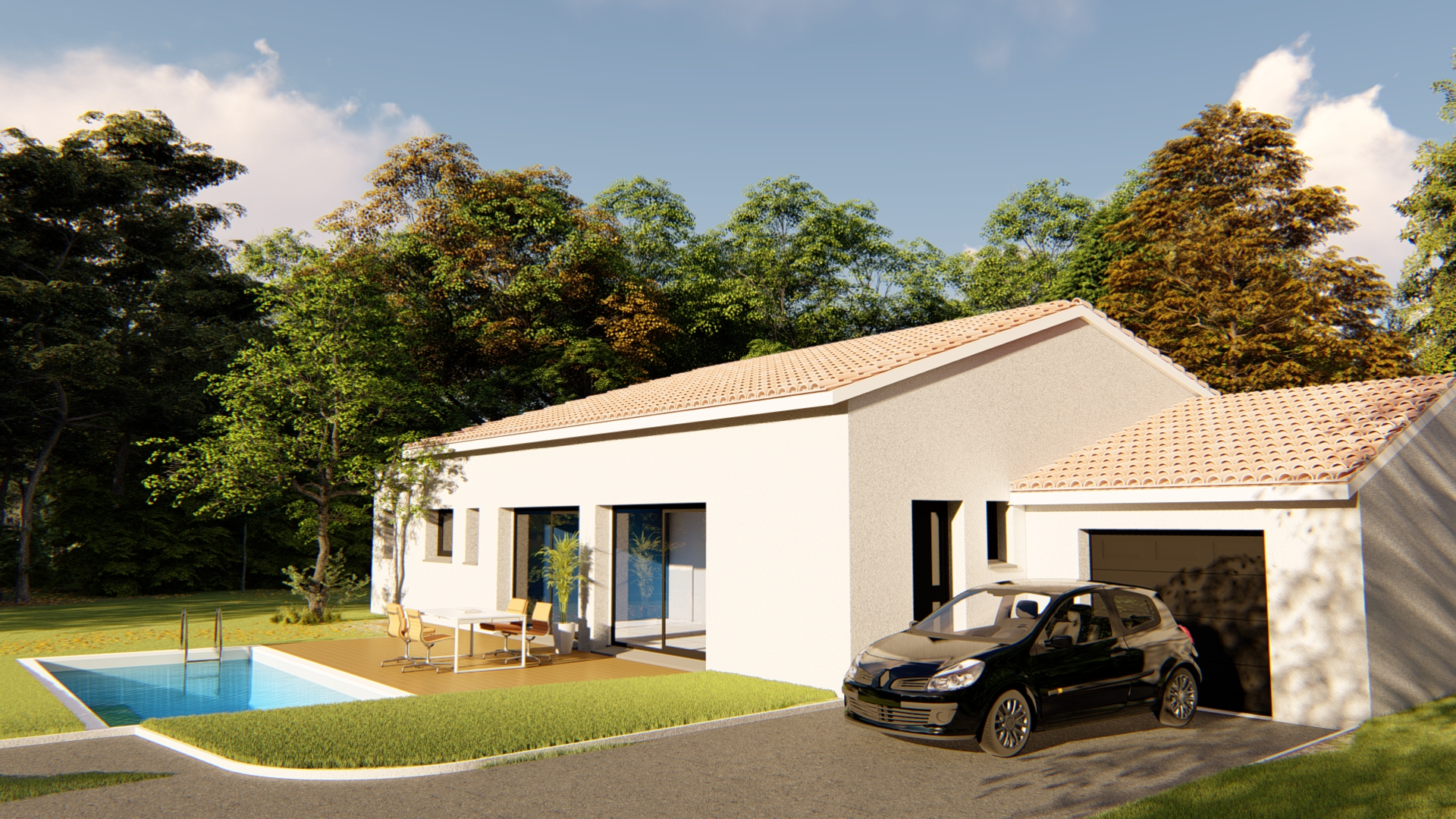 Maisons + Terrains du constructeur VILLAS SUD CREATION • 123 m² • FENOUILLET
