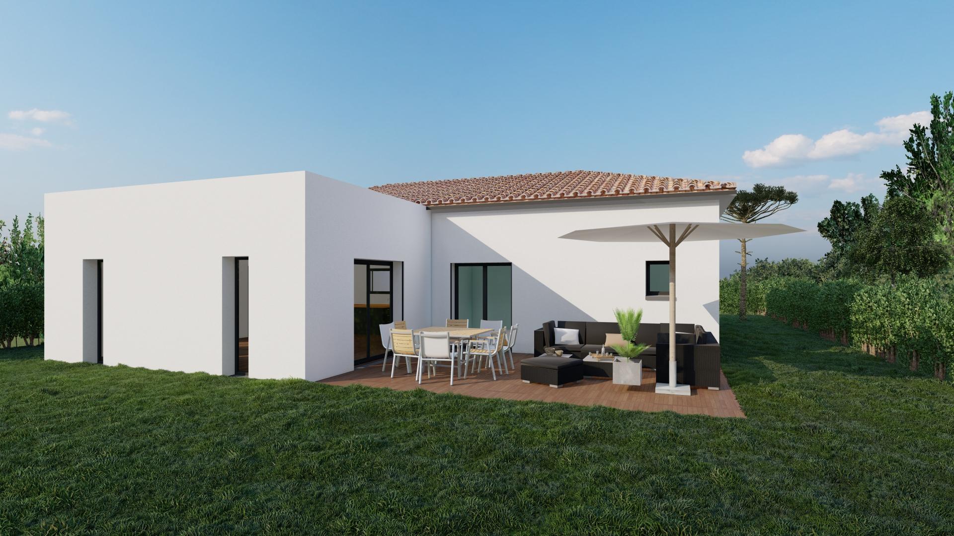 Maisons + Terrains du constructeur VILLAS SUD CREATION • 121 m² • GRATENTOUR