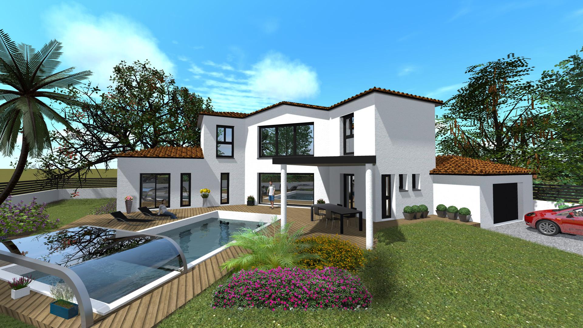 Maisons + Terrains du constructeur VILLAS SUD CREATION • 185 m² • LAVERNOSE LACASSE