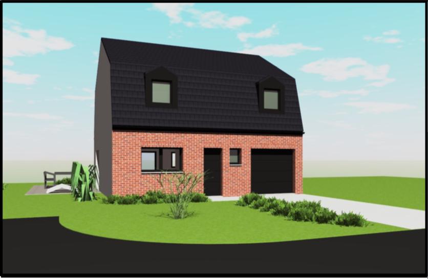 Maisons + Terrains du constructeur OPPORTUNITES IMMOBILIERES • 100 m² • NEUVILLE EN FERRAIN