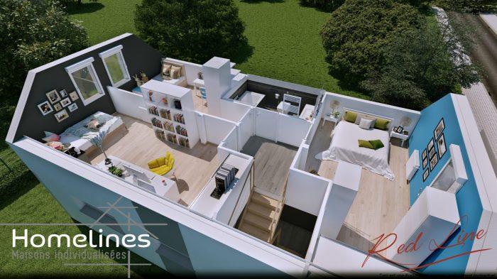Maisons du constructeur HOMELINES • 90 m² • LARGITZEN