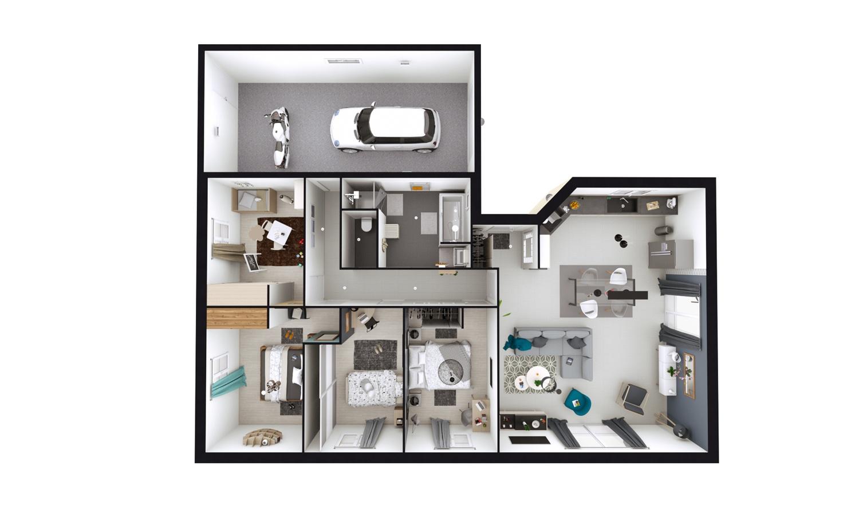 Maisons + Terrains du constructeur MAISONS D EN FRANCE CHARNAY LES MACON • 110 m² • MACON
