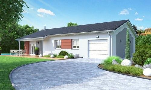Maisons + Terrains du constructeur MAISONS D EN FRANCE CHARNAY LES MACON • 90 m² • PLOTTES