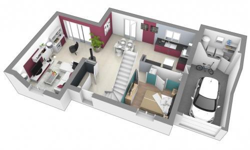 Maisons + Terrains du constructeur MAISONS D EN FRANCE CHARNAY LES MACON • 129 m² • MACON