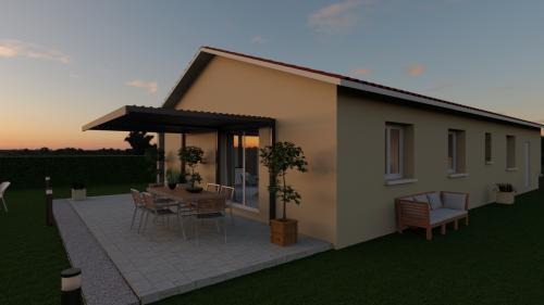 Maisons + Terrains du constructeur MAISONS D EN FRANCE CHARNAY LES MACON • 90 m² • MACON