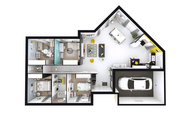 Maisons + Terrains du constructeur MAISONS D EN FRANCE CHARNAY LES MACON • 116 m² • AZE