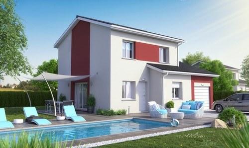 Maisons + Terrains du constructeur MAISONS D EN FRANCE CHARNAY LES MACON • 100 m² • CORMATIN