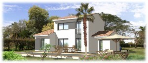 Maisons + Terrains du constructeur MAISONS BLANCHE •  m² • SAINT MITRE LES REMPARTS