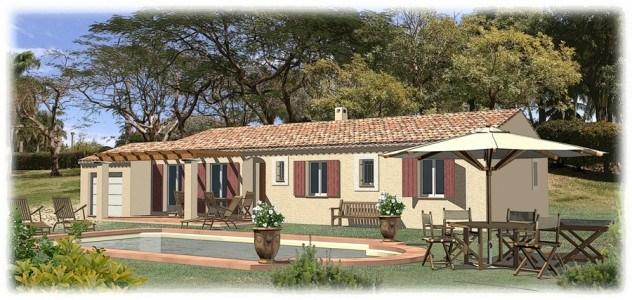 Maisons + Terrains du constructeur MAISONS BLANCHE • 88 m² • GINASSERVIS