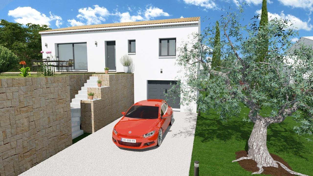 Maisons + Terrains du constructeur MAISONS DU MIDI • 89 m² • TRANS EN PROVENCE