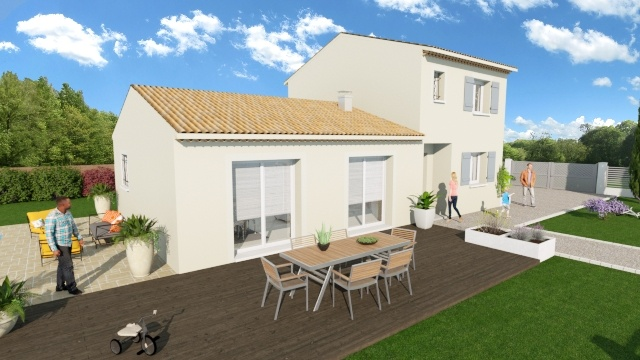 Maisons + Terrains du constructeur MAISONS DU MIDI • 110 m² • DRAGUIGNAN