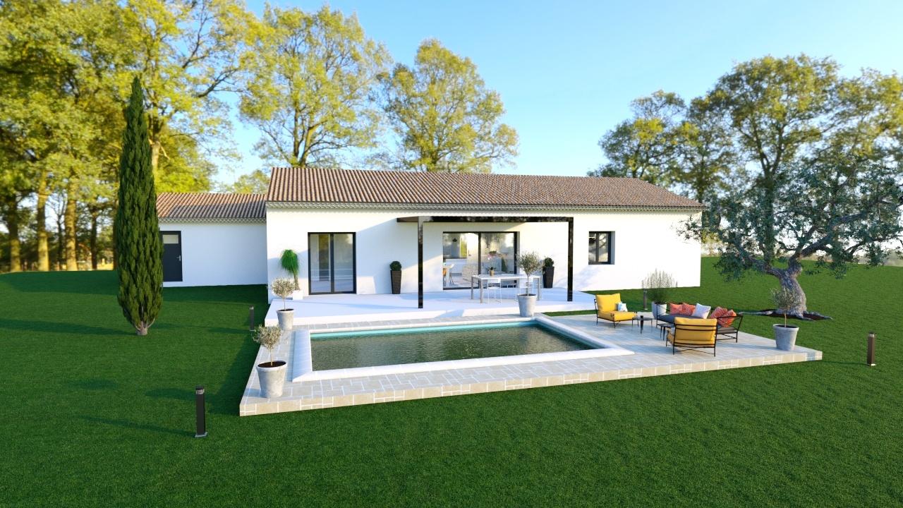 Maisons + Terrains du constructeur MAISONS DU MIDI • 100 m² • TRANS EN PROVENCE