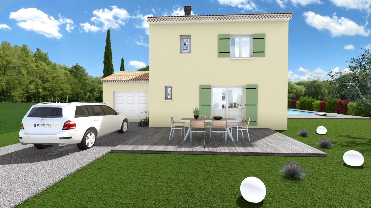 Maisons + Terrains du constructeur MAISONS DU MIDI • 120 m² • LORGUES