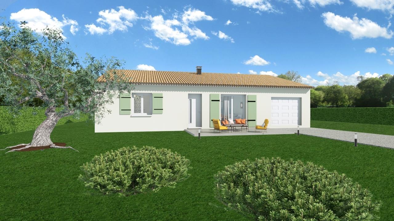 Maisons + Terrains du constructeur MAISONS DU MIDI • 100 m² • LORGUES
