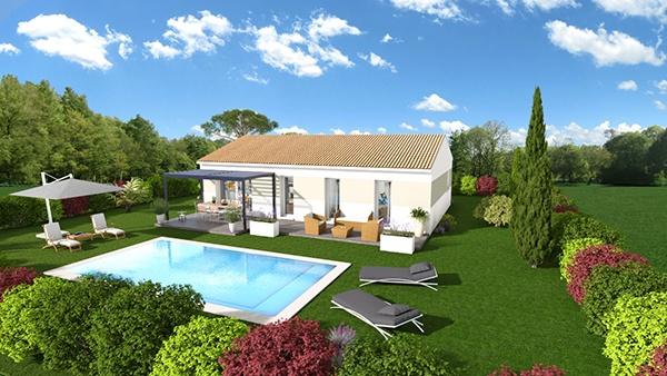 Maisons + Terrains du constructeur MAISONS DU MIDI • 89 m² • AUPS