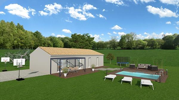 Maisons + Terrains du constructeur MAISONS DU MIDI • 100 m² • VIDAUBAN