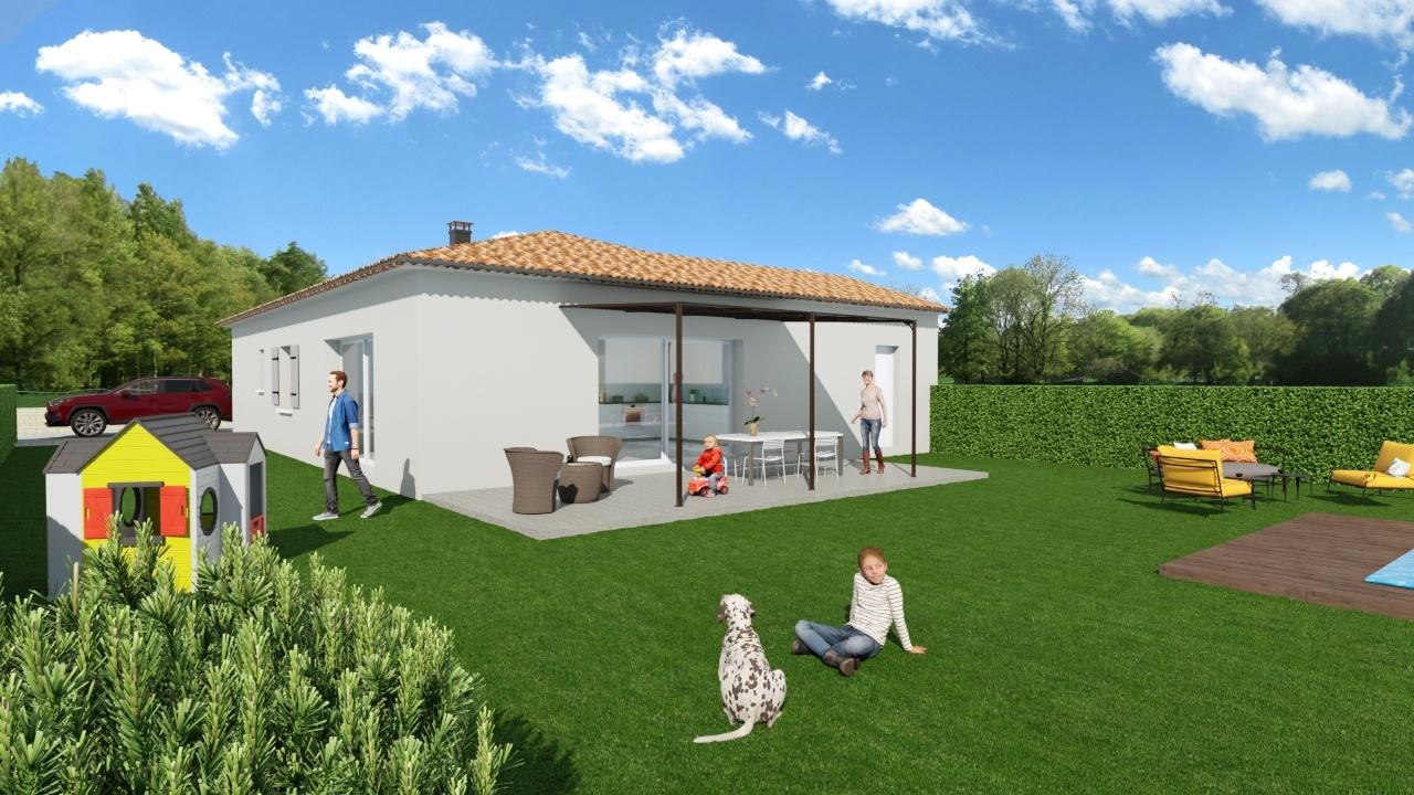 Maisons + Terrains du constructeur MAISONS DU MIDI • 100 m² • LA BASTIDE DES JOURDANS