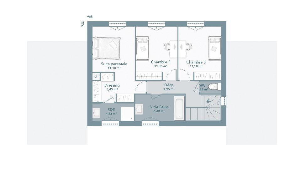 Maisons + Terrains du constructeur MAISONS FRANCE CONFORT • 110 m² • BALMA