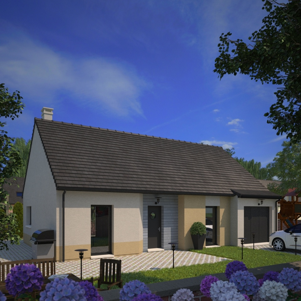 Maisons + Terrains du constructeur MAISONS FRANCE CONFORT • 75 m² • ETAPLES