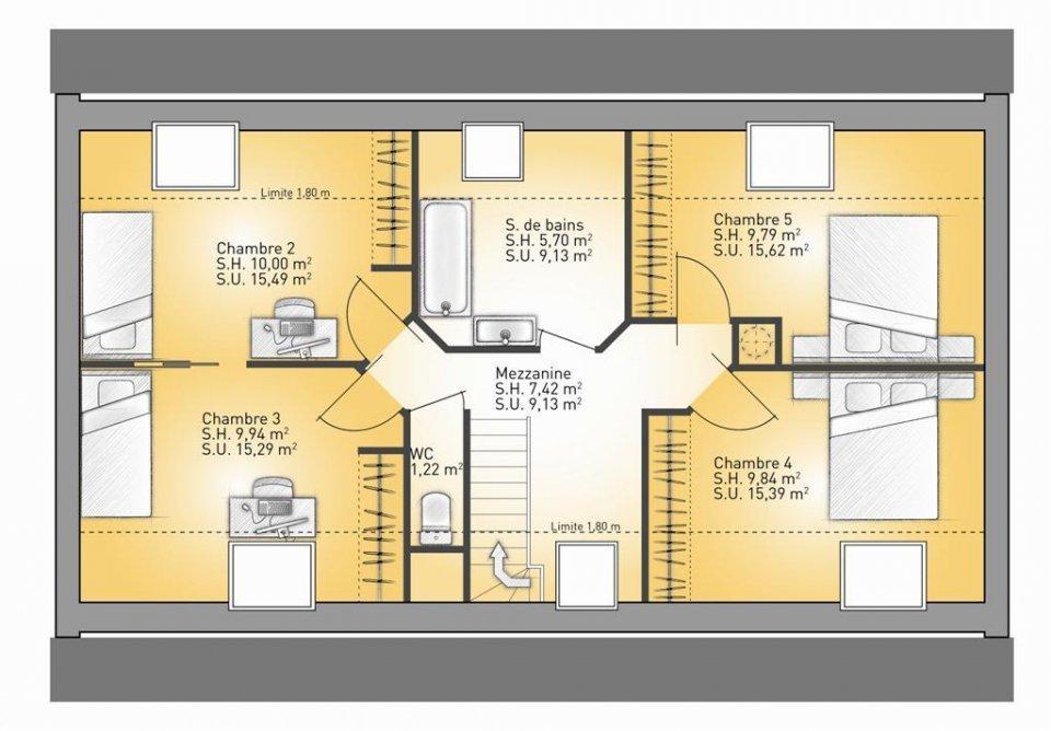 Maisons + Terrains du constructeur MAISONS FRANCE CONFORT • 85 m² • MORINGHEM