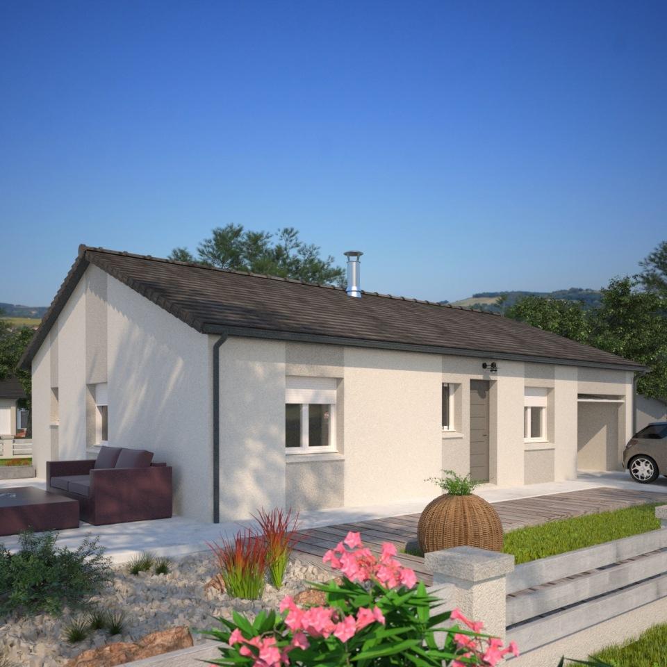 Maisons + Terrains du constructeur MAISONS FRANCE CONFORT • 84 m² • LES OLMES