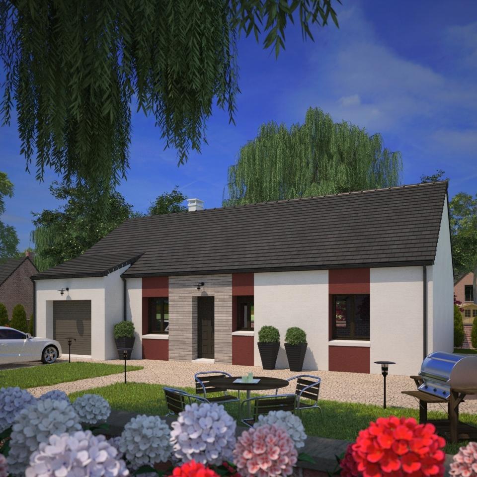 Maisons + Terrains du constructeur MAISONS FRANCE CONFORT • 90 m² • NOMAIN