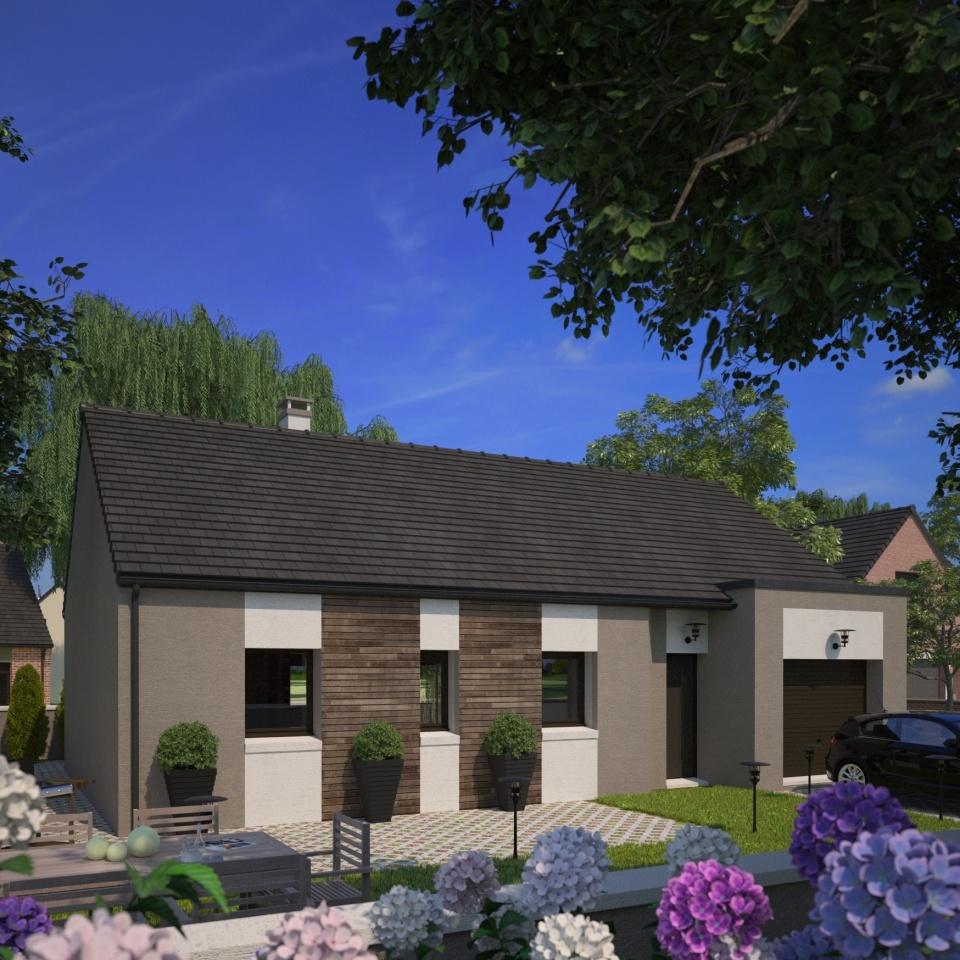 Maisons + Terrains du constructeur MAISONS FRANCE CONFORT • 75 m² • NOMAIN