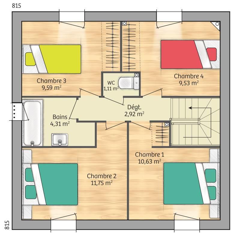 Maisons + Terrains du constructeur MAISONS FRANCE CONFORT • 93 m² • LE PETIT QUEVILLY