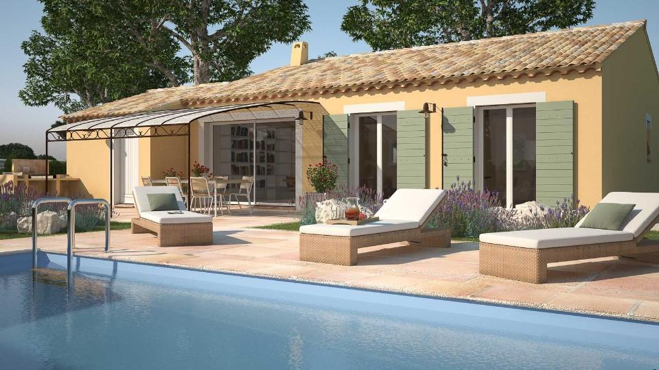 Maisons + Terrains du constructeur MAISONS FRANCE CONFORT • 105 m² • CLARET