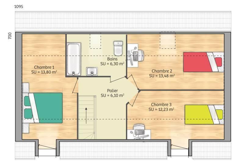 Maisons + Terrains du constructeur MAISONS BALENCY • 80 m² • FONTAINEBLEAU