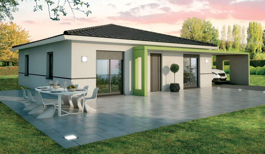 Maisons + Terrains du constructeur MAISONS SANEM • 80 m² • SAINT GERVAIS