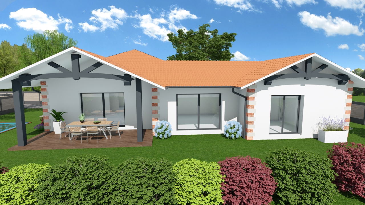 Maisons + Terrains du constructeur MAISONS SANEM • 120 m² • CREON